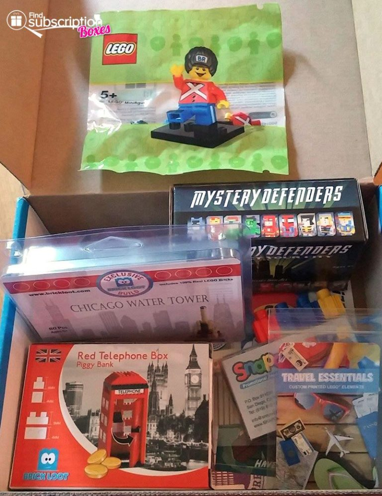 Brick Loot August 2016 Review - Box Contents