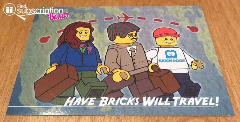 Brick Loot August 2016 Review - Have Bricks Will Travel Sticker