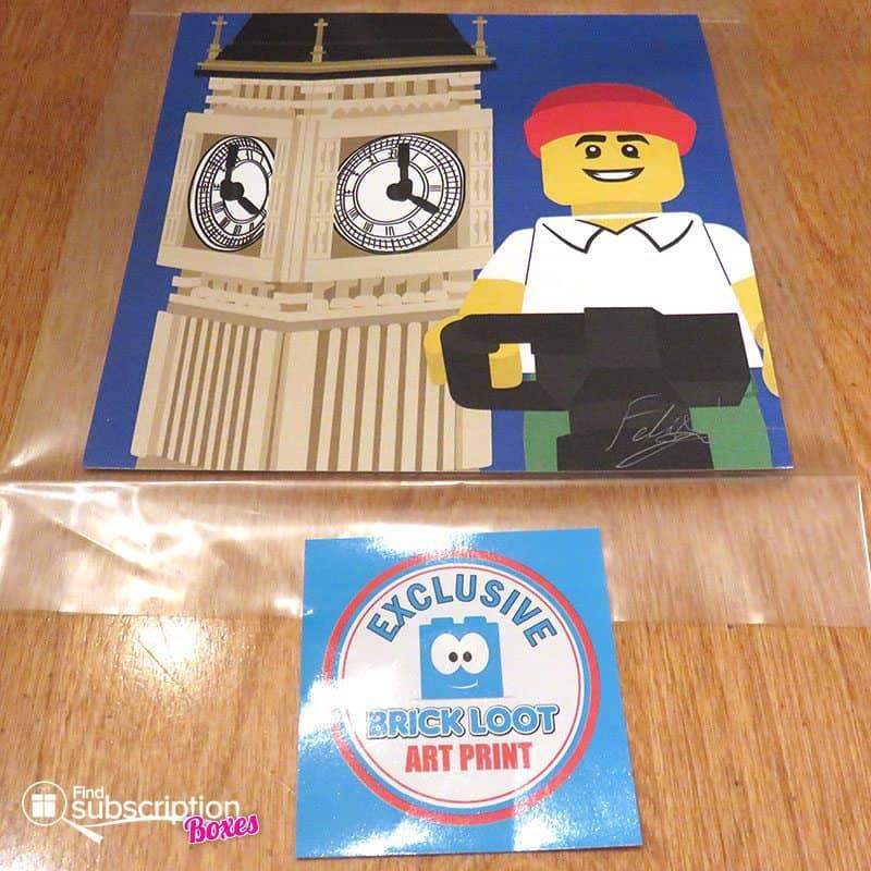 Brick Loot August 2016 Review - Art Print