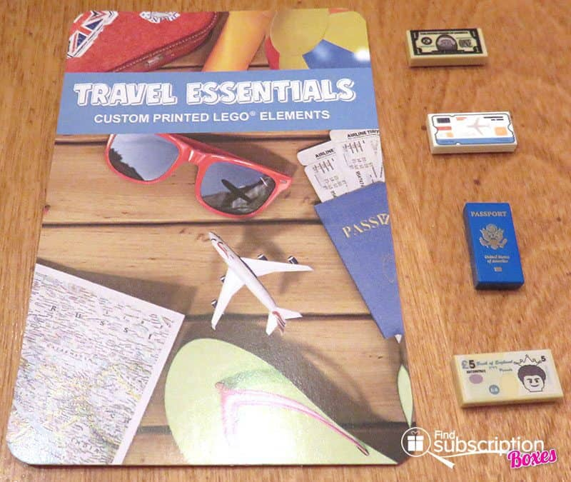 Brick Loot August 2016 Review - LEGO Travel Essentials