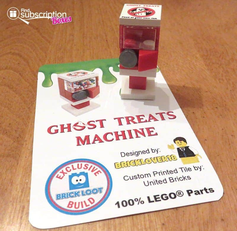 Brick Loot July 2016 Review - Ghost Treats Machine