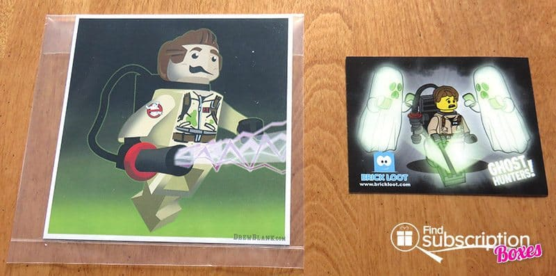Brick Loot July 2016 Review - Ghostbusters LEGO Print Art