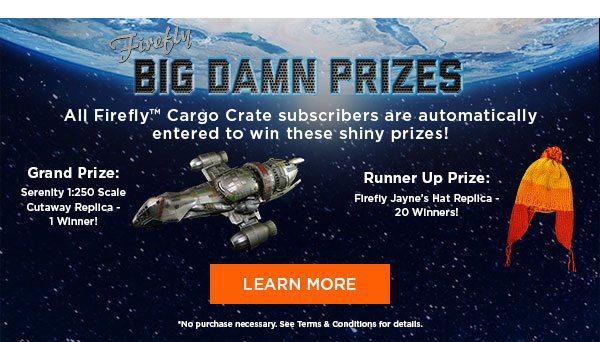 Firefly Cargo Crate September 2016 Big Damn Prizes
