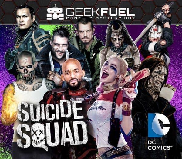 Geek Fuel August 2016 Box Spoiler - Suicide Squad
