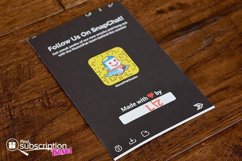 July 2016 MunchPak Review - Card