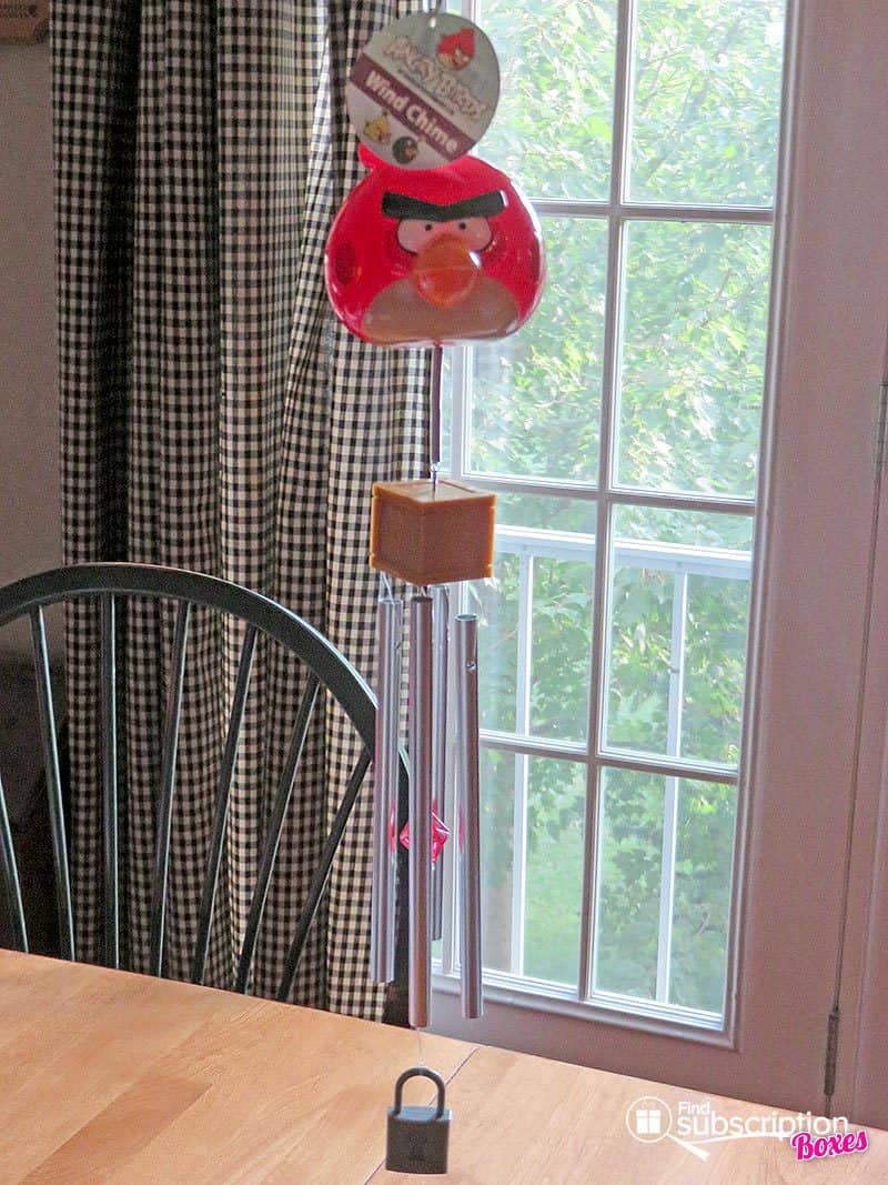 July 2016 Nerd Block Jr. for Boys Review - Angry Bird Windchimes