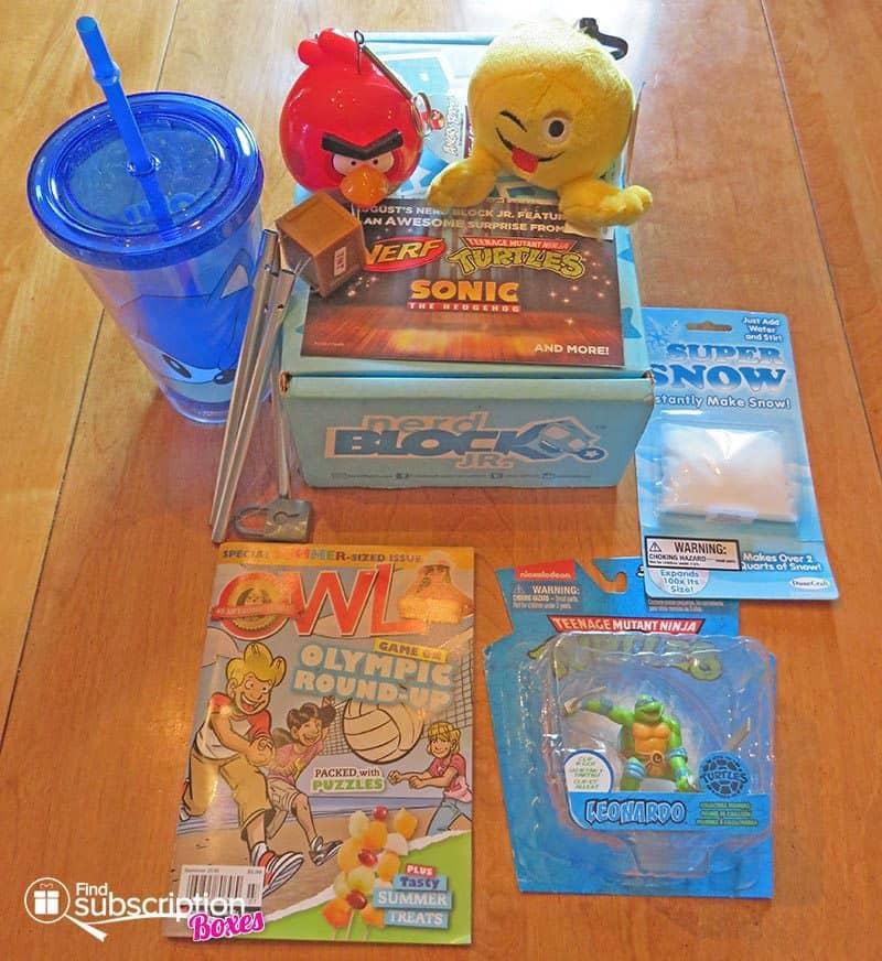 Nerd Block Jr. July 2016 Box Review - Box Contents
