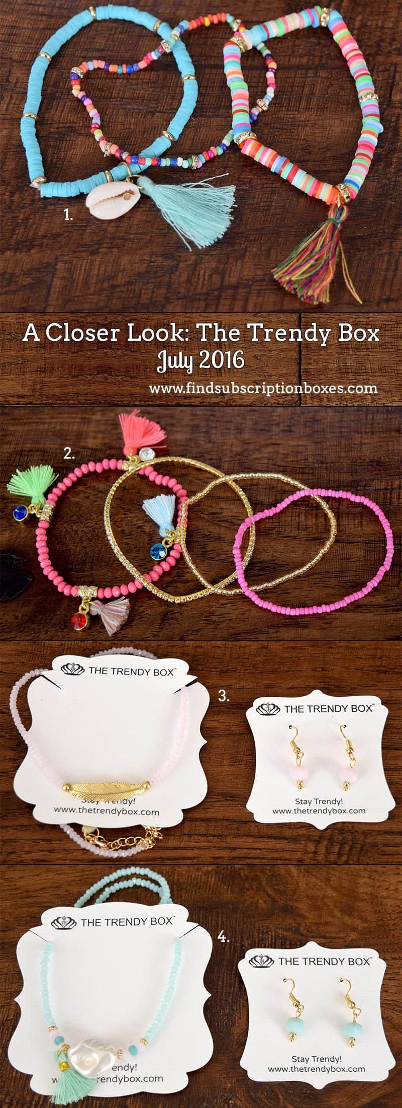 July 2016 The Trendy Box Review - Inside the Box