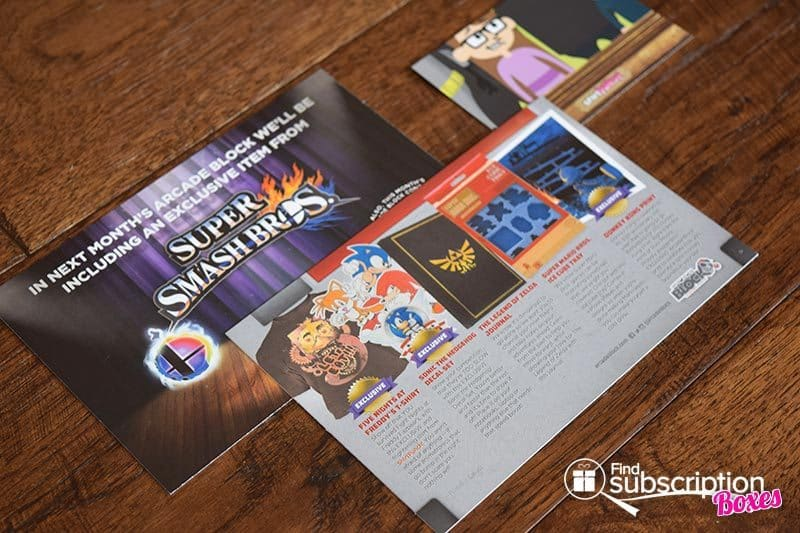 June 2016 Arcade Block Review - Product Cards