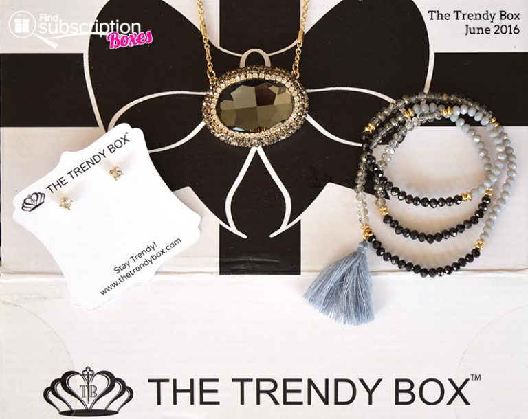 June 2016 The Trend Box Review - Box Contents