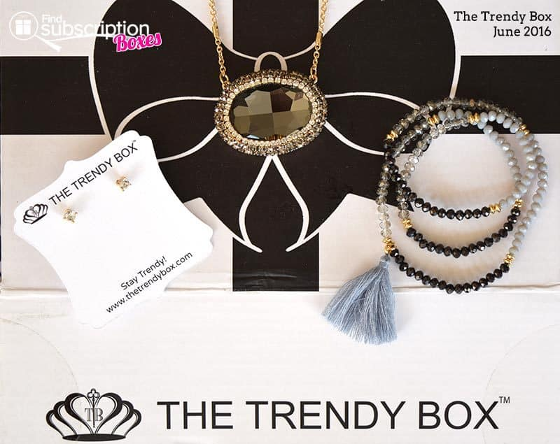 June 2016 The Trendy Box Review - Box Contents