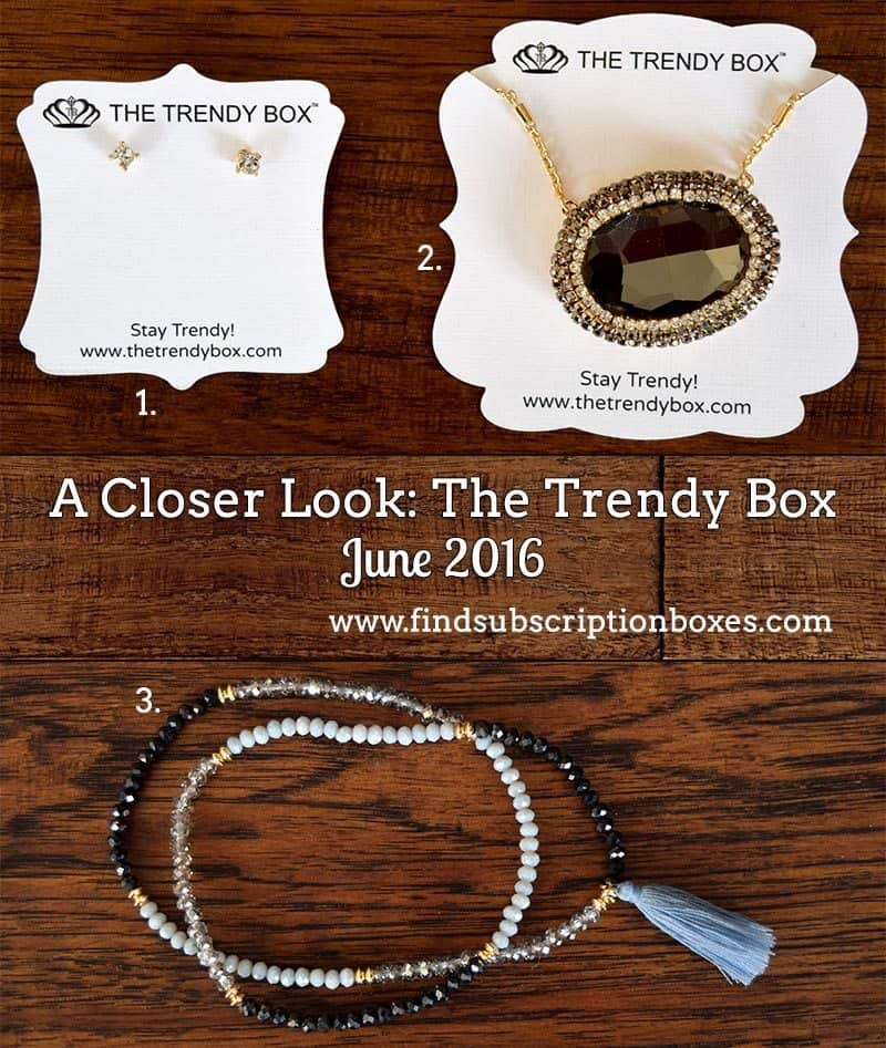 June 2016 The Trendy Box Review - Inside the Box