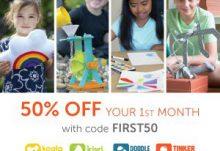 Kiwi Crate Flash Sale - Save 50% Off