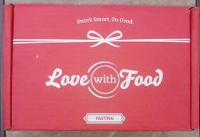Love With Food June 2016 Review - Box