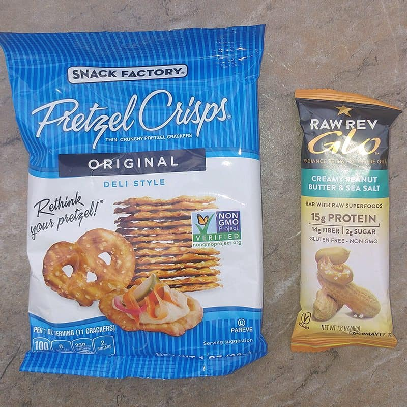 Love With Food June 2016 Review - Pretzel Crisps and Peanut Butter