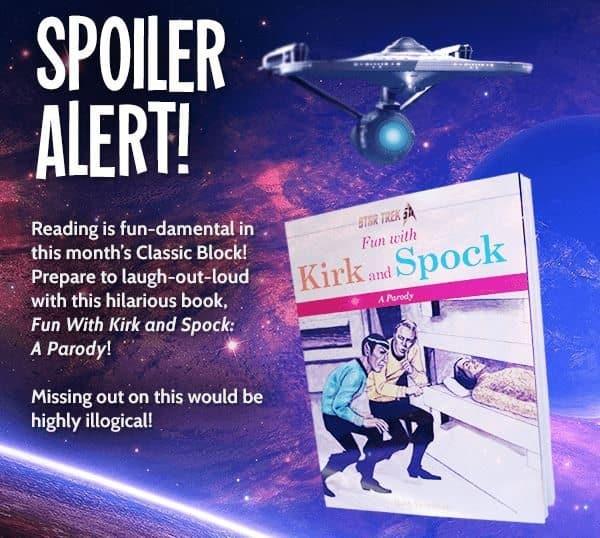 Nerd Block September 2016 Box Spoiler - Star Trek Fun with Kirk and Spock