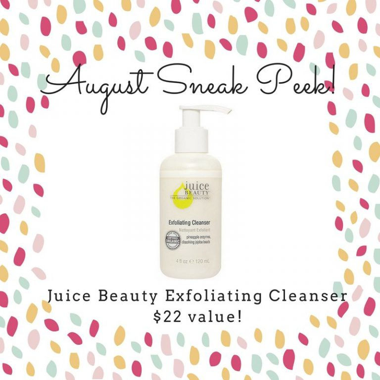 Pampered Mommy Box August 2016 Box Spoiler - Juice Beauty