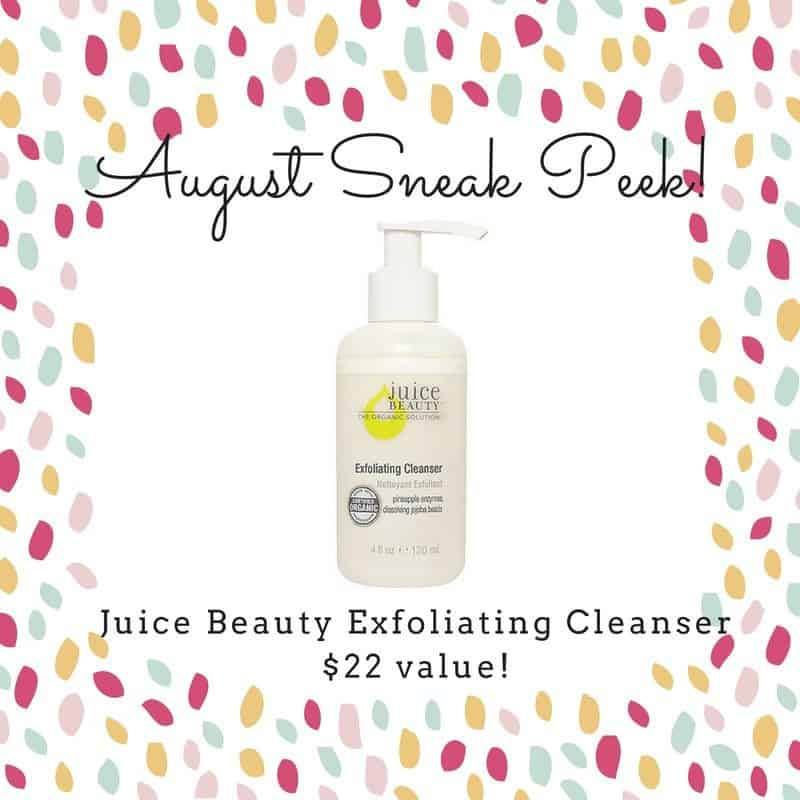 August 2016 Pampered Mommy Box Spoiler - Juice Beauty