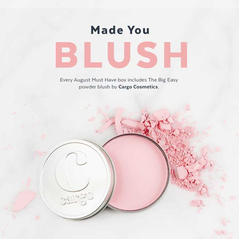 POPSUGAR Must Have Box August 2016 Box Spoiler - Cargo Cosmetics Blush