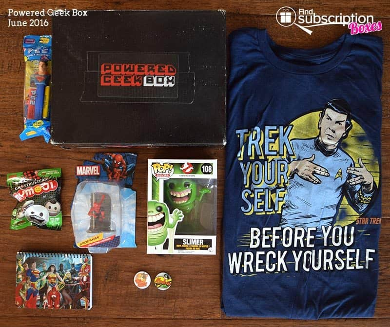 Powered Geek Box June 2016 Box Review - Box Contents
