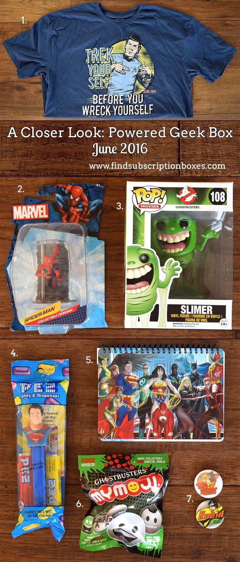 Powered Geek Box June 2016 Box Review - Inside the Box