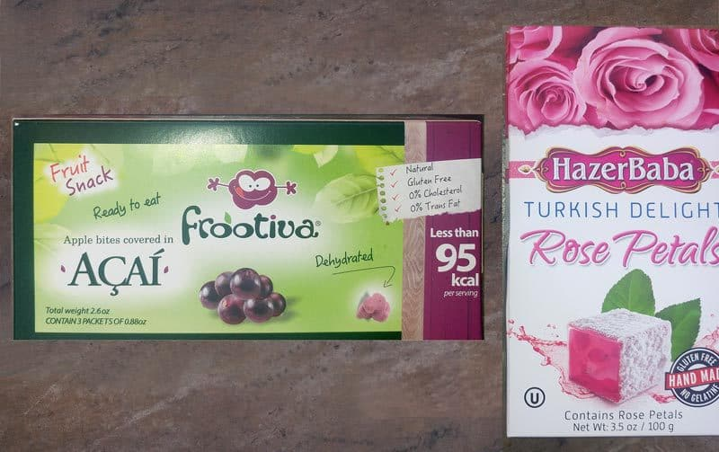 SNACK BOX by Try The World August 2016 Review - Acai and Turkish Delights