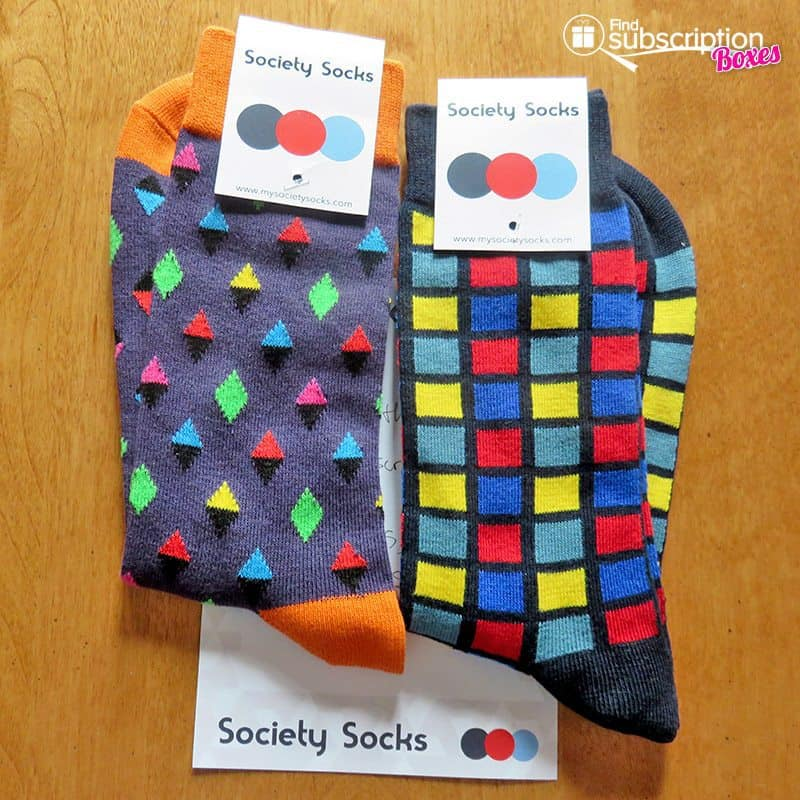 Society Socks July 2016 Review - Inside Box
