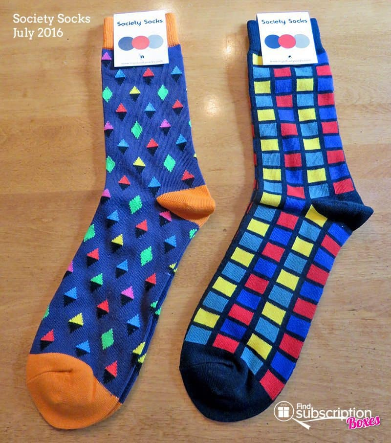 Society Socks July 2016 Review - Socks