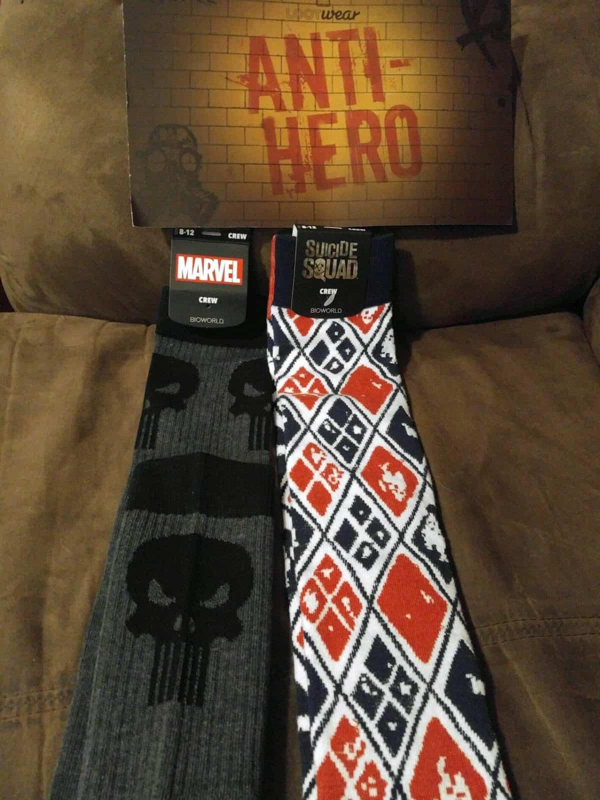 August 2016 Anti-Hero Loot Wear Review - Loot Socks