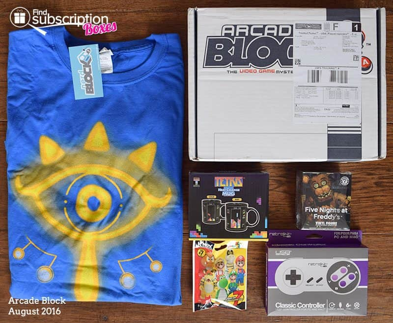 August 2016 Arcade Block Review - Box Contents