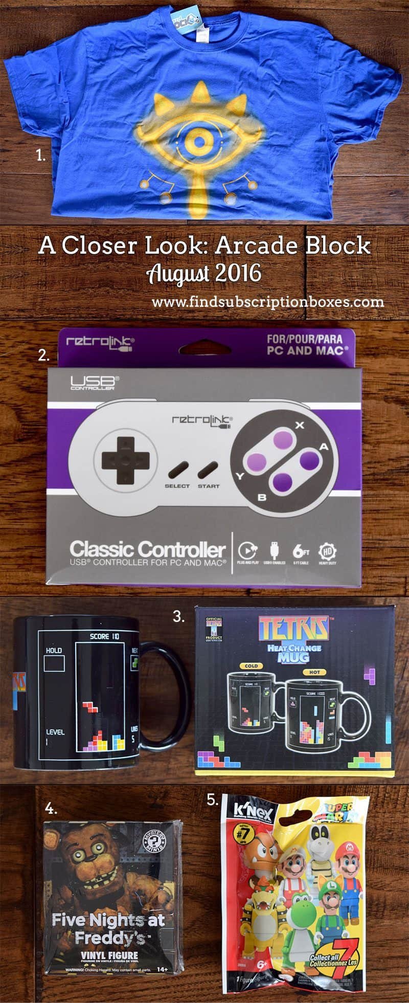 August 2016 Arcade Block Review - Inside the Box