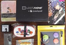 August 2016 Loot Anime Review - Back to School - Box Contents