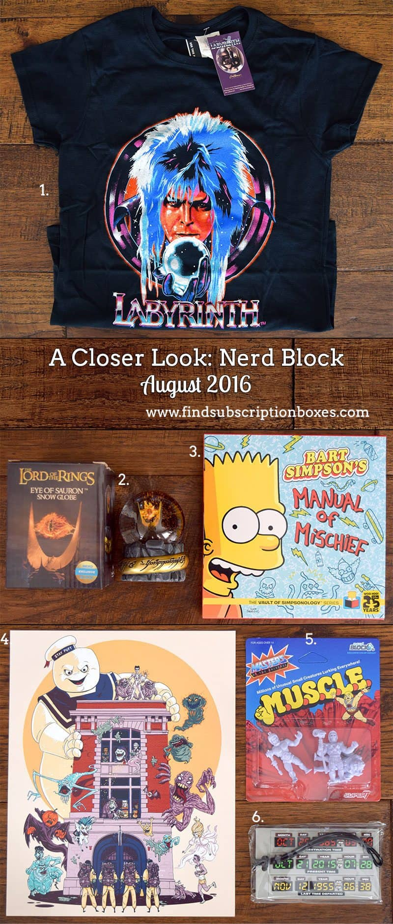 August 2016 Nerd Block Classic Review - Inside the Box