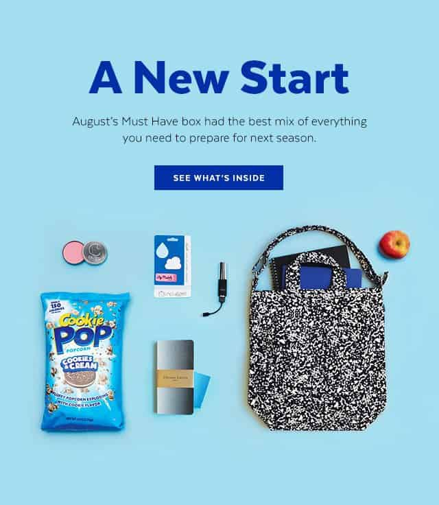 August 2016 POPSUGAR Must Have Box Reveal
