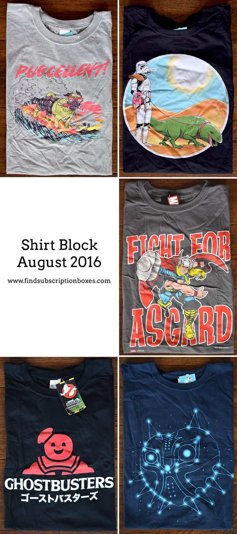 August 2016 Shirt Block Review - Inside the Box