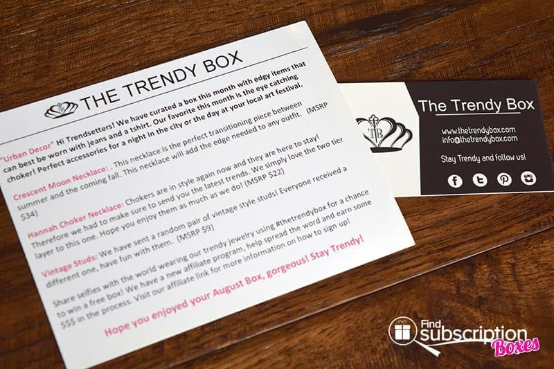 August 2016 The Trendy Box Review - Cards