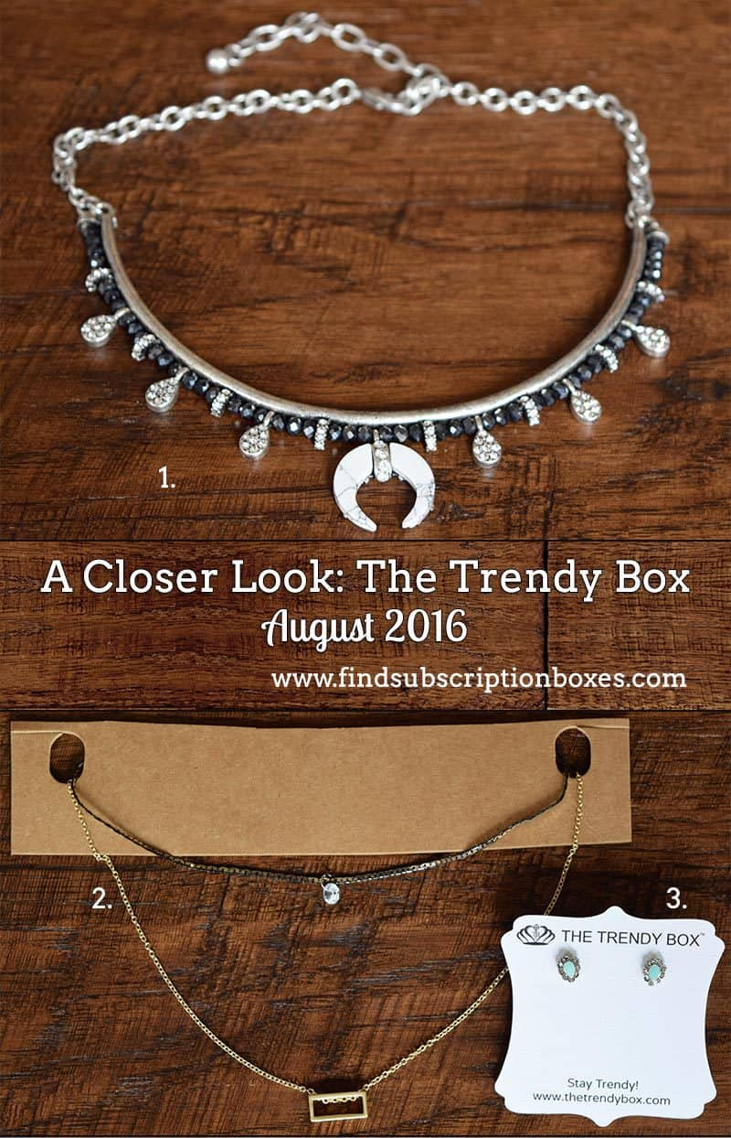 August 2016 The Trendy Box Review - Inside the Box