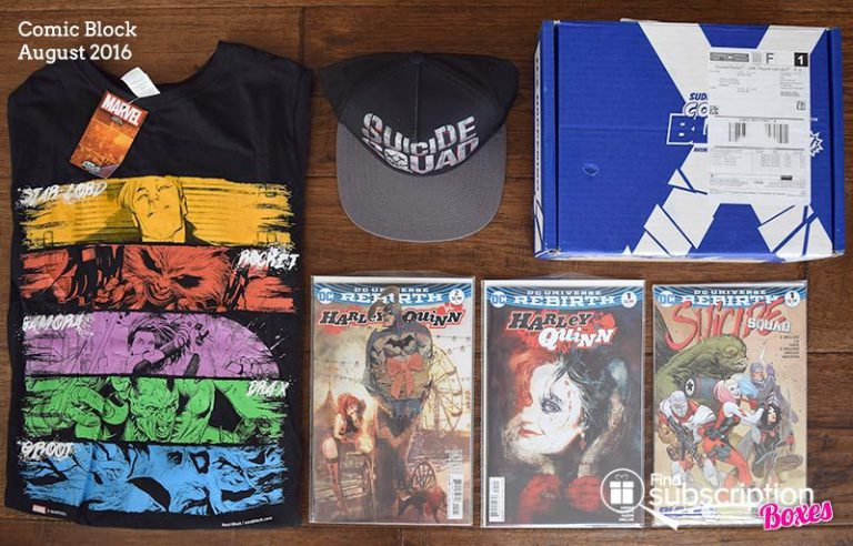 Comic Block August 2016 Review - Box Contents