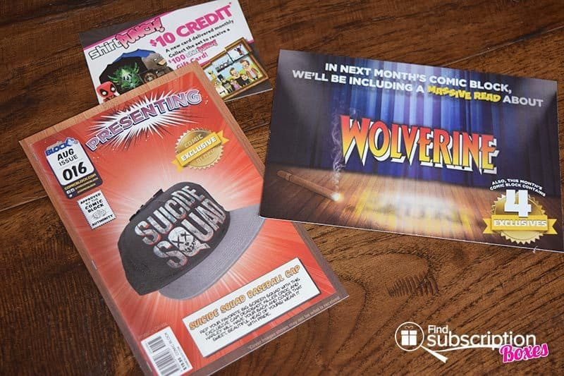 Comic Block August 2016 Review - Product Cards