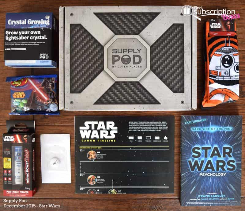 December 2015 Supply Pod Star Wars Review - Box Contents