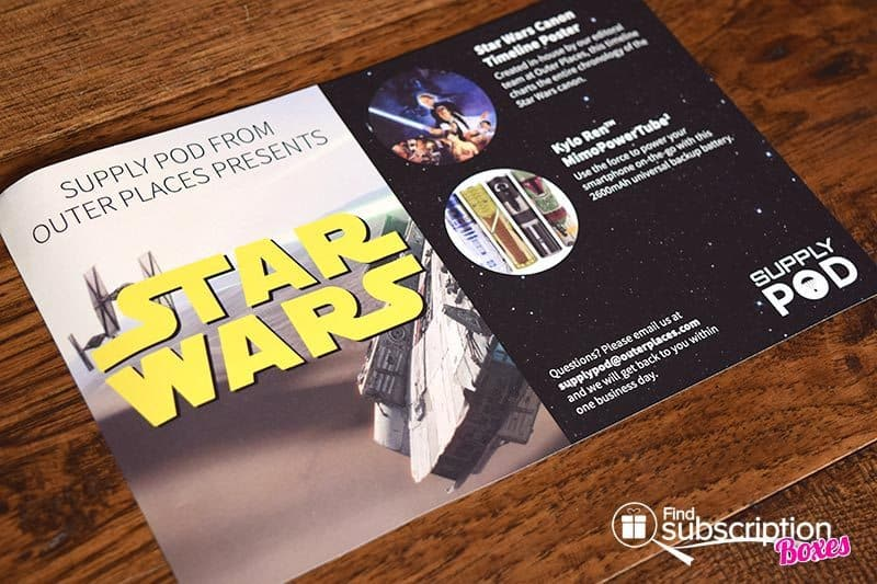 December 2015 Supply Pod Review - Star Wars - Flyer