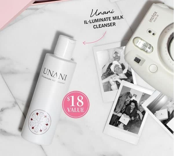 GLOSSYBOX October 2016 Box Spoiler - Unani Il-Luminate Milk Cleanser