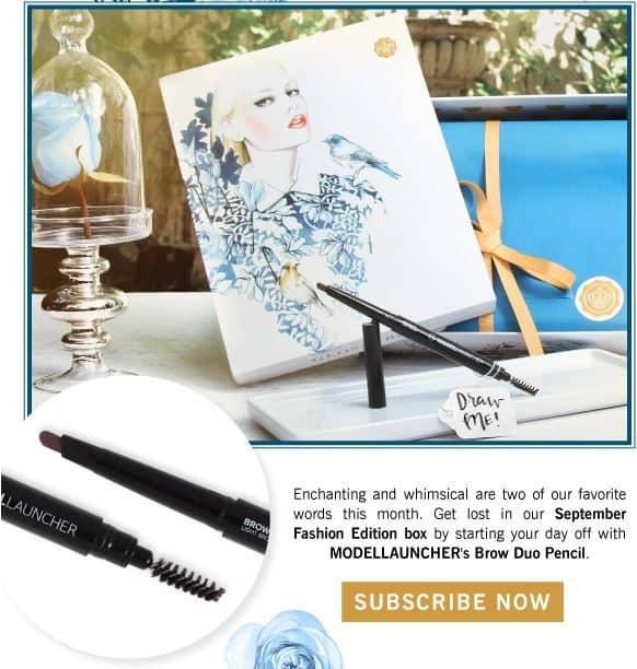 GLOSSYBOX September 2016 Box Spoiler - MODELLAUNCHER Brow Duo Pencil
