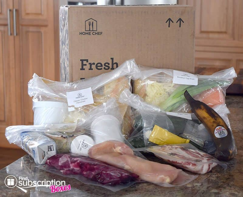 Home Chef August 2016 Review - Box Contents