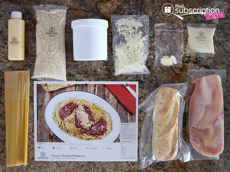 Home Chef August 2016 Review - Chicken Parmesan Ingredients
