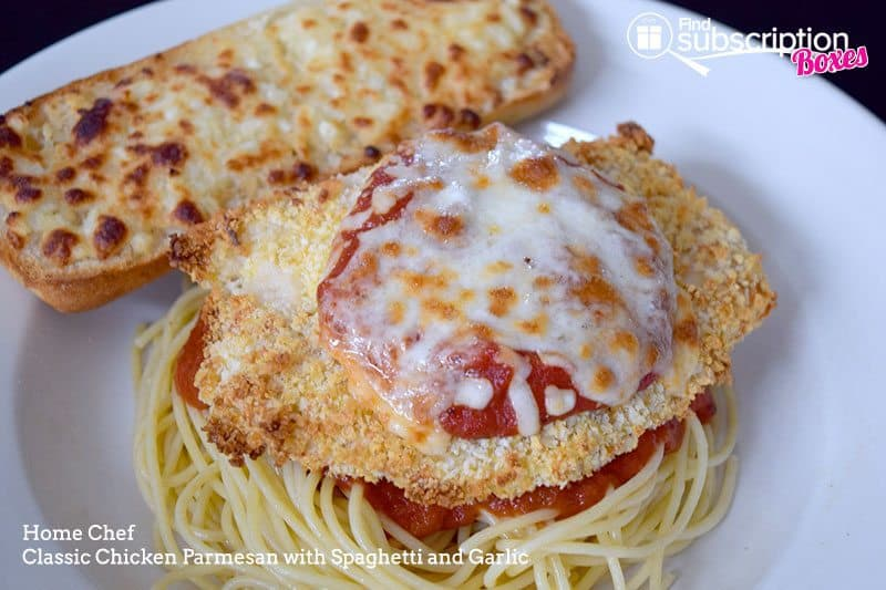 Home Chef August 2016 Review - Chicken Parmesan