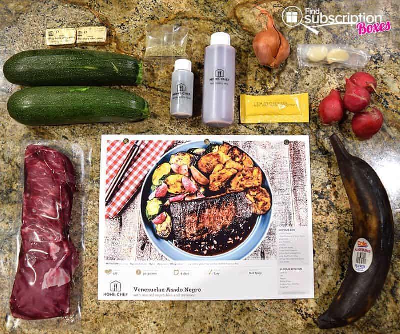 Home Chef August 2016 Review - Venezuelan Asado Negro Ingredients