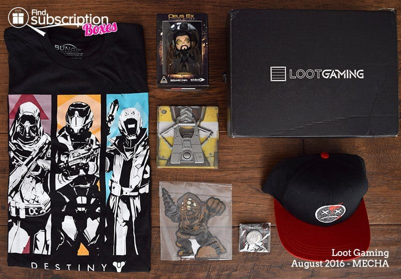 August 2016 Loot Gaming MECHA Crate Review - Box Contents