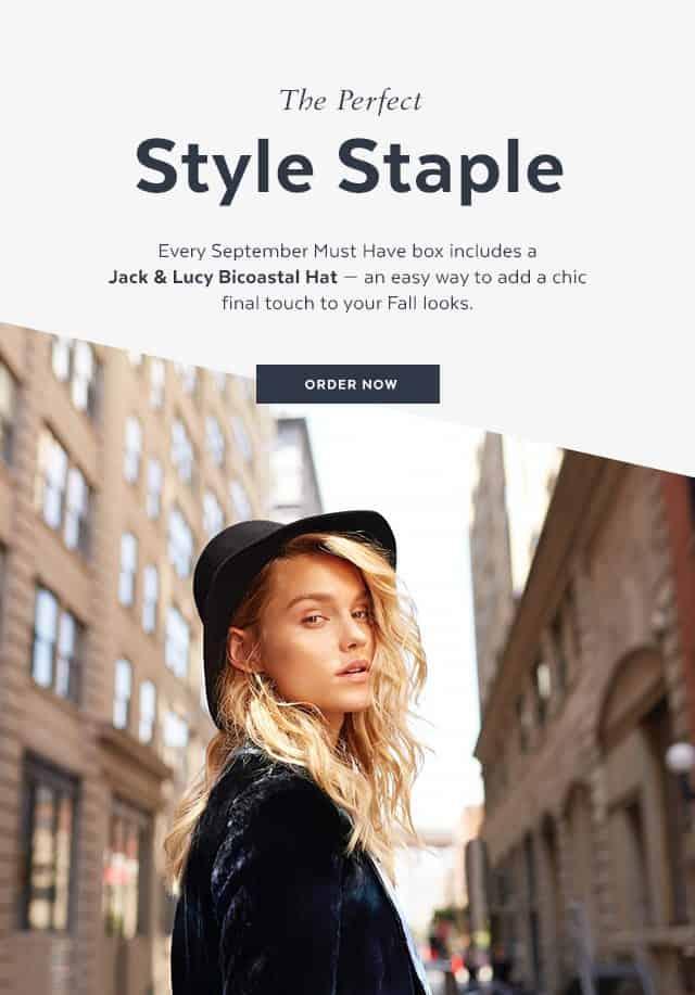 POPSUGAR September 2016 Must Have Box Spoiler - Jack & Lucy Bicoastal Hat