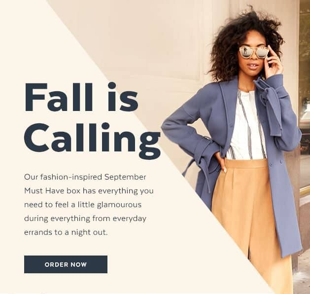 POPSUGAR September 2016 Must Have Box Theme - Fall is Calling